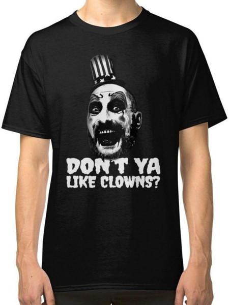 The Devils Rejects Captain Spaulding Men's Black Tees T-Shirt Clothing