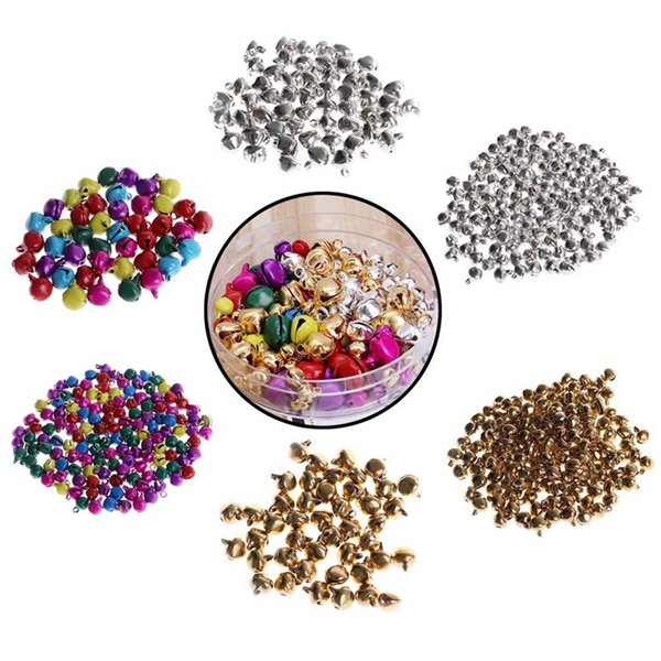 100/300pcs jingle bell aluminum loose beads small for festival party decoration christmas tree decoration/diy crafts accessories