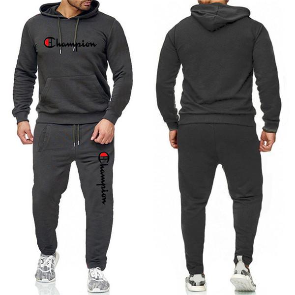 Mens-Champion Marke Designer Anzug Herbst Sweaisuit volle Hülsen-Outfits Fleece Pullover Hoodies Hosen Zweiteilige Sets Sportwear B82303
