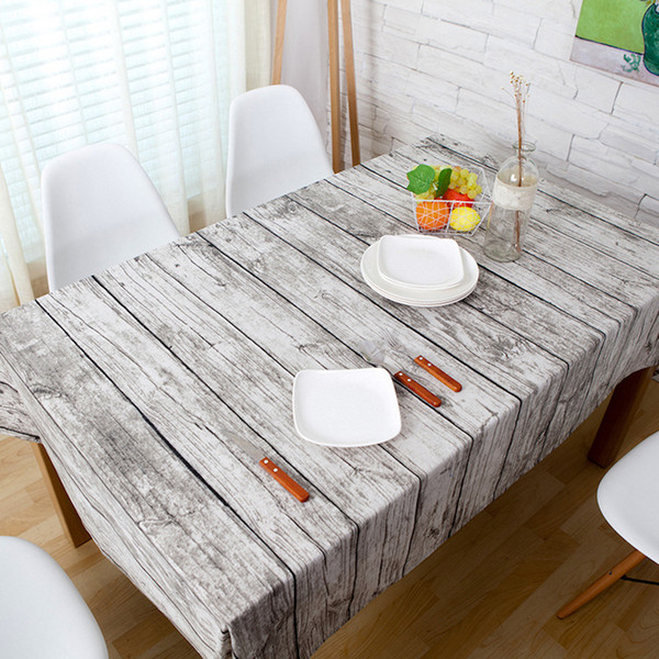 Simulation wood pattern grain table cloth printing Table runner Splicing cloth Ethnic style table Tea Towel Shooting background cloth