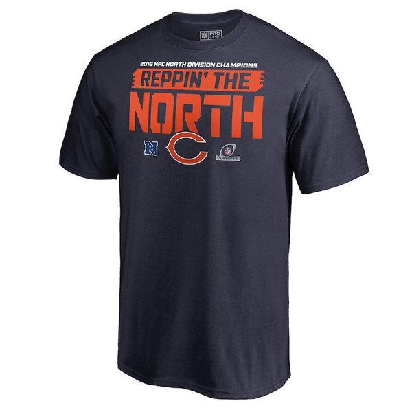 Chicago Bear 2018 NFC North Division Champions T-Shirt Cohen Mack Trubisky Urlacher Payton perry Butkus howard custom name and number shirt