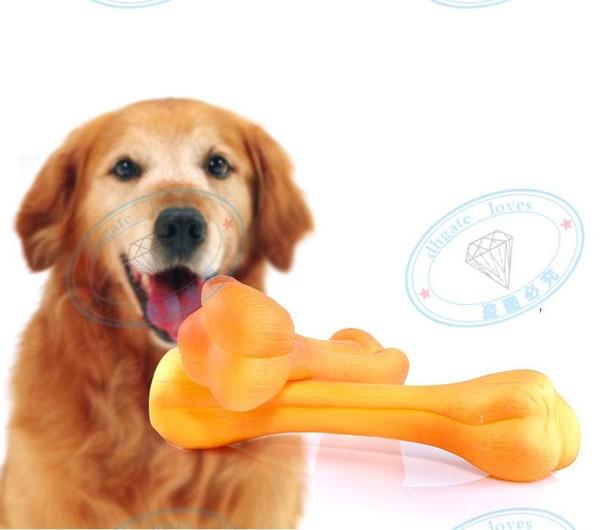Neue Ankunft 100pcs / lot Mischungs-Farben-weiche ungiftige Gummihaustier-Biss-Spielwaren-Hundekatzen-Knochen-Form kauen stichhaltiges Spielzeug