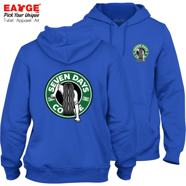 This Coffee Keeps You Feel Blue Fleece Hoodies Casual Hip Hop Pop Active Cool Design Women Men Double Sided Sweatshirts