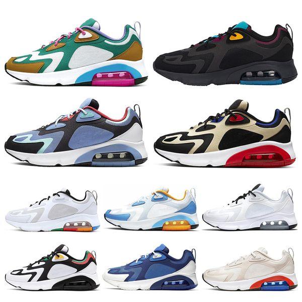 152/5000 Nike air max 200 kadın erkek koşu ayakkabı Bordo Çöl Kum Mistik Yeşil üçlü Siyah Kraliyet Darbe erkek eğitmenler atletik açık spor sneakers 40-46