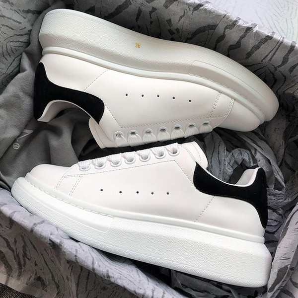 Designer Luxury white leather casual shoes for girl women men black gold red fashion comfortable flat sneakers Brand size 35-44