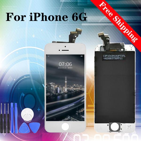 Venta caliente! Fábrica! El mejor precio! Reparación de Sustitución de pantalla para iPhone 6G envío libre 100% probados