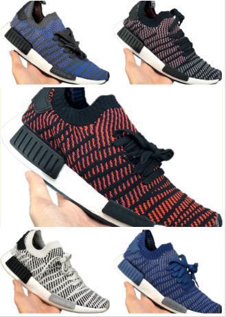 top popular 2019 New arrival R1 PrimeKnit Men Stretch Knit Breathable Running Shoes PKs R1 PK Buffer Foam Sports Sneakers 2019