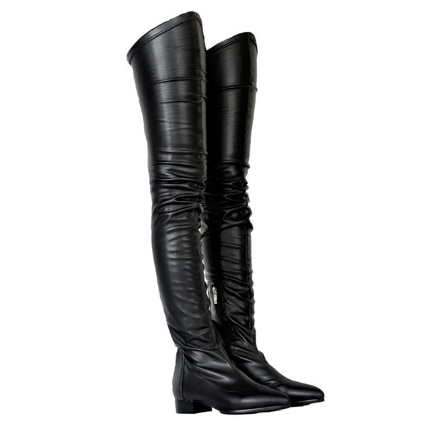 ZDONE Ladies 2019 New Classic Thigh-high Boots Big Size Winter Long Booties Party Prom Fashion Warm Dress Evening Boots Shoes N079