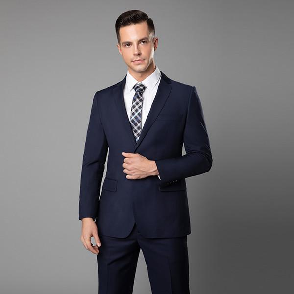 2019 Handsome Grey Slim Fit Tute da uomo (giacca + pantaloni) Tute su misura Abiti da sposo su misura Smoking dello sposo Custom Made