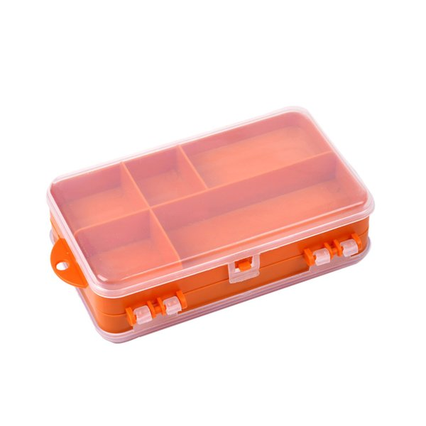 Double Sided Fishing Bait Tackle Box Transparent Visible Plastic Fishing Lure Hook Accessory Storage Case 9 Compartments