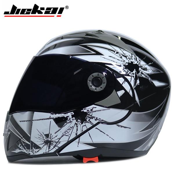 Jiekai Motorcycle helmets Safe Double Visor ECE DOT Flip up helmet casque moto Racing 4 season motor cycle MOTO helmet