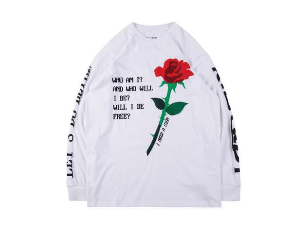 New Kanye West CPFM.XYZ Rose Golden Hoodie Men Women High Quality Hip Hop Casual Kanye West Sweatshirts Hoodie Black White