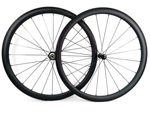 Sprint super light Climbing carbon wheels 38mm depth 25mm width clincher/Tubular Road bike carbon wheelset UD matte finish