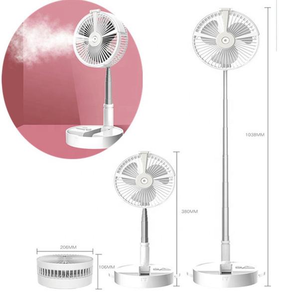 best selling 5 in 1 Multifunctional Telescopic Foldable Fan Mini USB Fan Spray Refrigeration Electric Fans 4 Gears Adjustable Wind Power for home outdoor