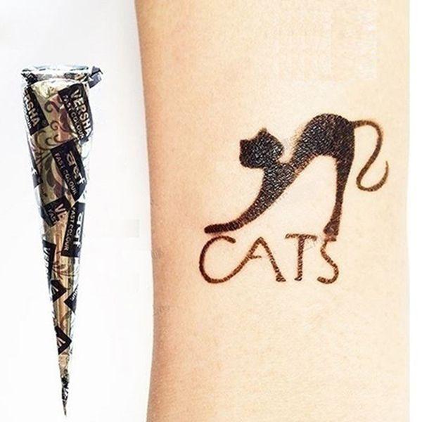 3 шт хны Конусы красный коричневый черный + 20шт трафареты Временные татуировки Комплекты Body Art Mehandi Чернила для краски для тела --- MS