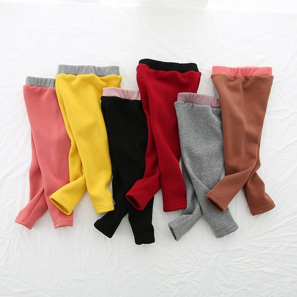 2019 Baby Girls Leggings Autumn Winter Fleece Warm Legging for Girl Fashion Kids Pants Girls Clothing Baby Girl Winter Clothes