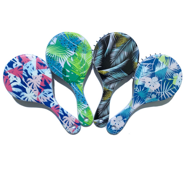 Magic big round hair brush custom paddle curl straight comb air bags round plastic hair comb massage brush women & men