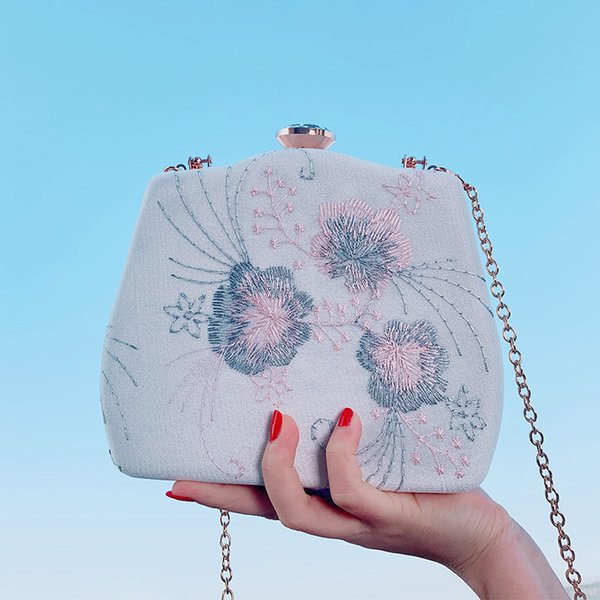 new bag ladies handbag trend embroidery box type small square bag casual hanfu women's - from $44.07
