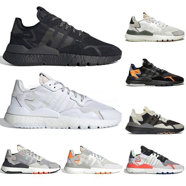 Acheter Adidas Nite Jogger BOOST 2019 Nite Jogger 3 M Chaussures De Course Réfléchissantes Hommes Femmes Top Qualité Triple Noir Blanc Respirant Mens