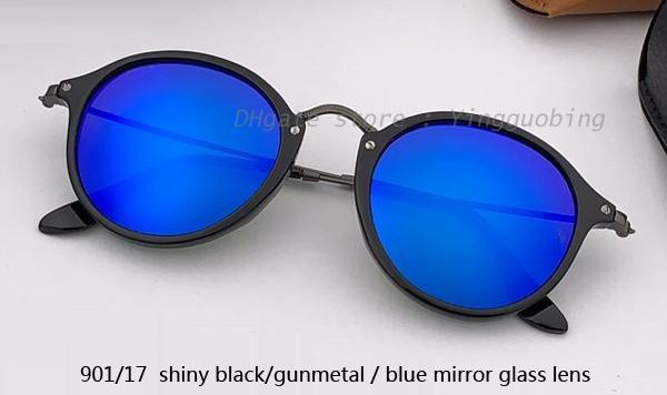 901/17 shiny black gunmetal/blue mirror