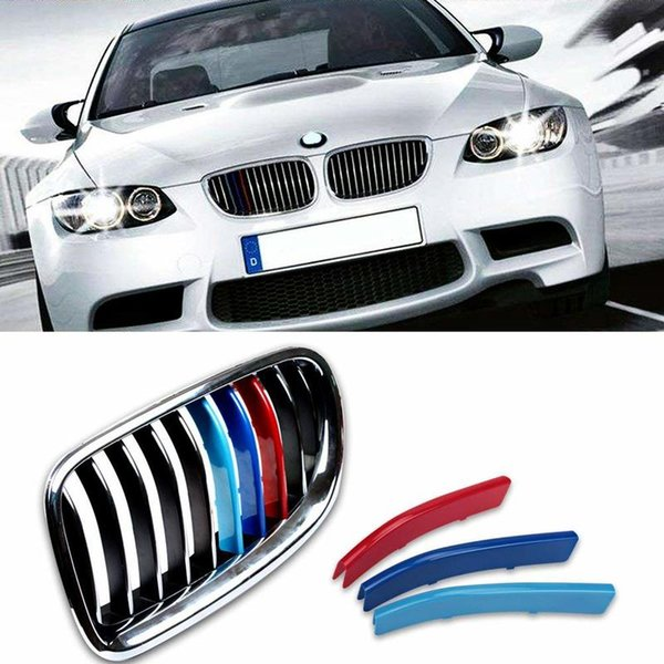 best selling Kidney Grille Cover Stripe Clip for BMW 5 Series F10 F11 LCI 2014-2015 10 Beam