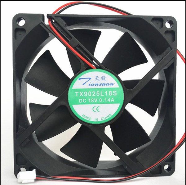 best selling Brand New TX9025L18S DC 18V 0.14A 9CM 9025 refrigerator thermostat cabinet cooling fan Free Shipping