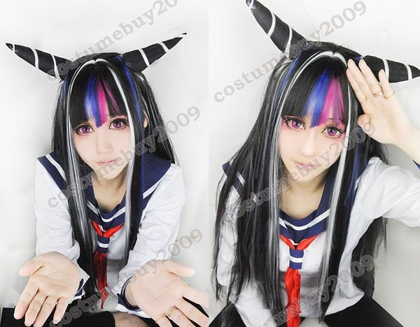 Cosplay cosplay della parrucca di Super Dangan Ronpa 2 Ibuki Mioda