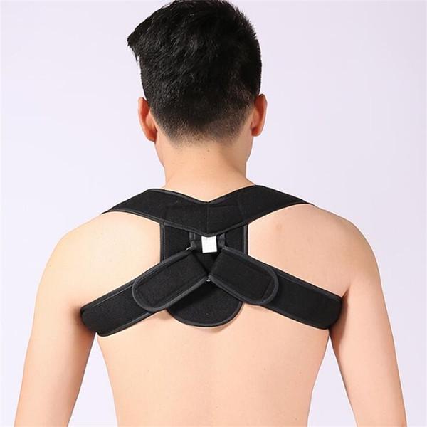 Supporto lombare del corsetto del correttore di posizione regolabile femminile maschio Correttore diritto del dorso della cinghia posteriore di sostegno di espalda de # 70895