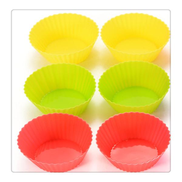Tazas para hornear reutilizables de silicona Revestimientos para magdalenas Tazas para muffins Moldes para pasteles Tazas para pasteles Venta caliente de alta calidad Herramientas de cocina Oferta especial