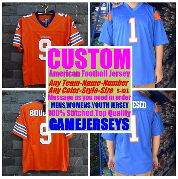 top popular Customized american football jerseys college cheap authentic color rush sports jersey stitched mens womens youth kids 4xl 5xl 6xl 7xl 8xl 2019