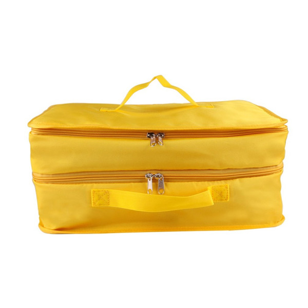 Multifunctional Folding Travel Bag Receiving Bag Three Layers Bags Luggage Pack Polyester Double Hook