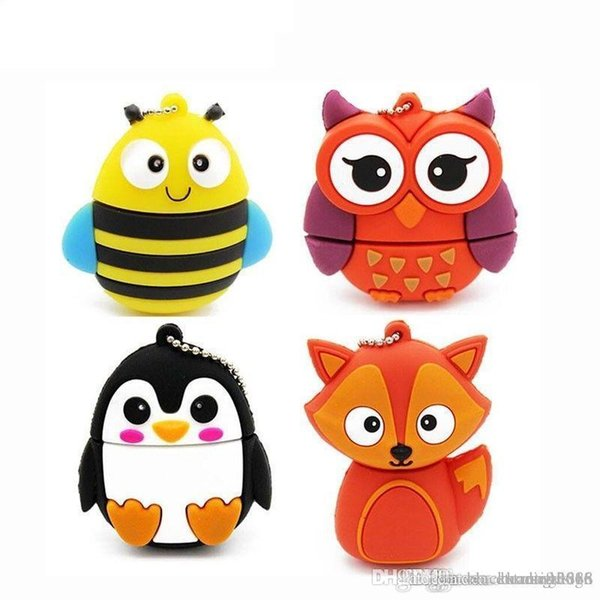 Animal Pen Drive Cartoon USB Flash Drive Pendrive U Disk Animal Memory Stick 32G