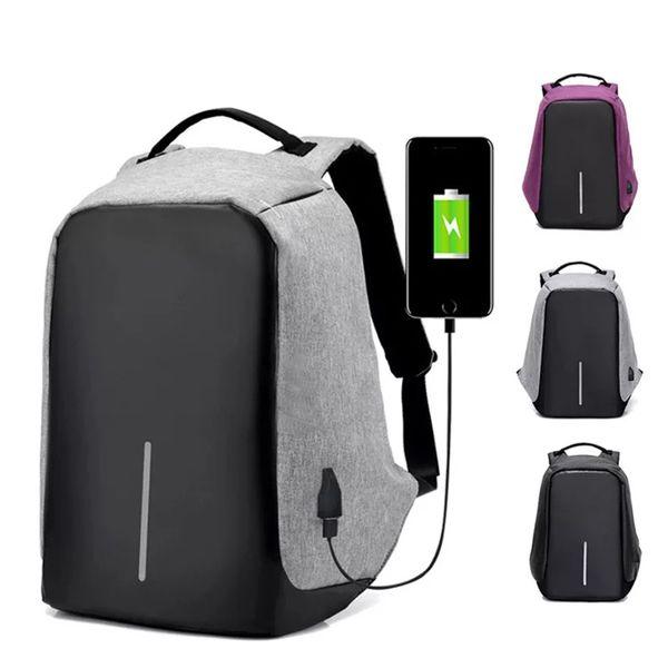 Drop Verschiffen Männer Diebstahlsicherung Rucksack USB Lade 15,6 Laptop Rucksack Multifunktions Wasserdichte Reise Rucksack Frauen Schultasche
