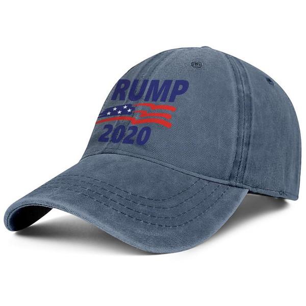 Erkekler Kadınlar vintage Denim şapka Yıkanmış Ayarlanabilir Trump 2020 Amerikan bayrağı tasarım top şapka Baskılı Baba şapkalar Açık