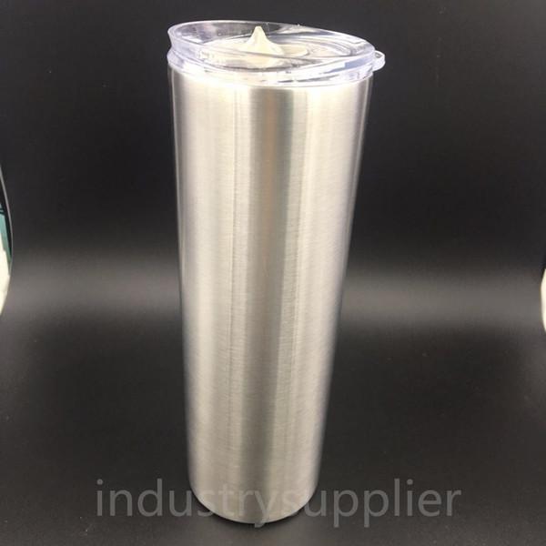 20 unze Edelstahl Skinny Tumbler Vakuum Isolierte Tassen Mit Deckel Edelstahl Farbe Becher Für Tee Coffe Auf Lager