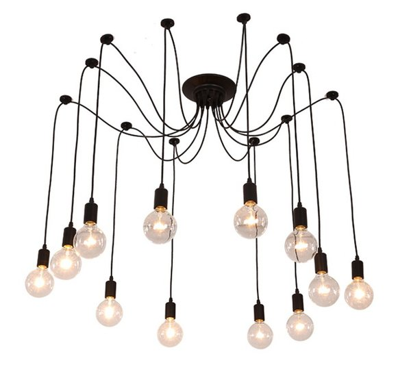 E27 Drop light Vintage Net Spider Dining Room Pendant Lights Creative Bar Pendant Lamp Fashion DIY Cafe Fairy Pendant Lamp