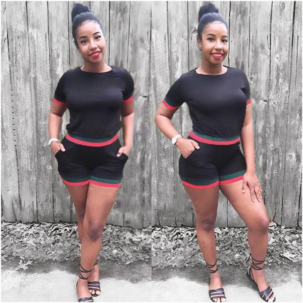 Женщины 2шт шорты костюмы летний отдых одежда больших размеров спортивные костюмы брюки-карандаш модный дизайнер спортивные костюмы