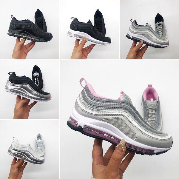 Großhandel Nike Air Max 97 2019 Heiße Qualitätsschuhe Kinder Sportschuhe Kinder Jungen Basketball Schuhe Kind Huarache Legend Blue Designer Sneakers