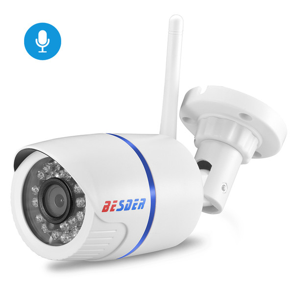 BESDER Audio 1080P 720P WiFi IP Camera Microphone Surveillance Outdoor Waterproof Camera Security Night Vision CCTV Camera CamHi