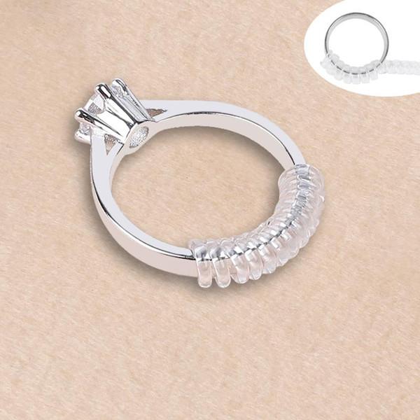 Herramientas de joyería Equipamientos 4pcs / set Tamaño del anillo basado en espiral Ajustador Guardia Tightener Reductor de redimensionamiento ToolHave un día bueno!