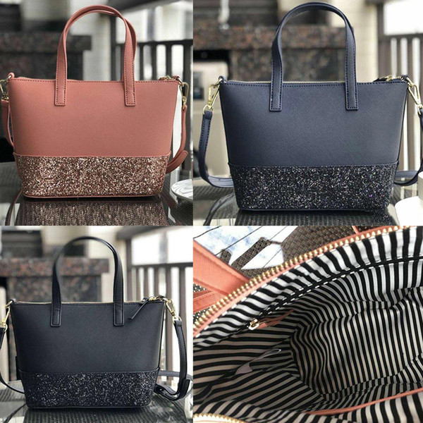 brand designer new glitter purses Patchwork shining shoulder crossbody shopping bags pu women handbag totes with Shoulder strap