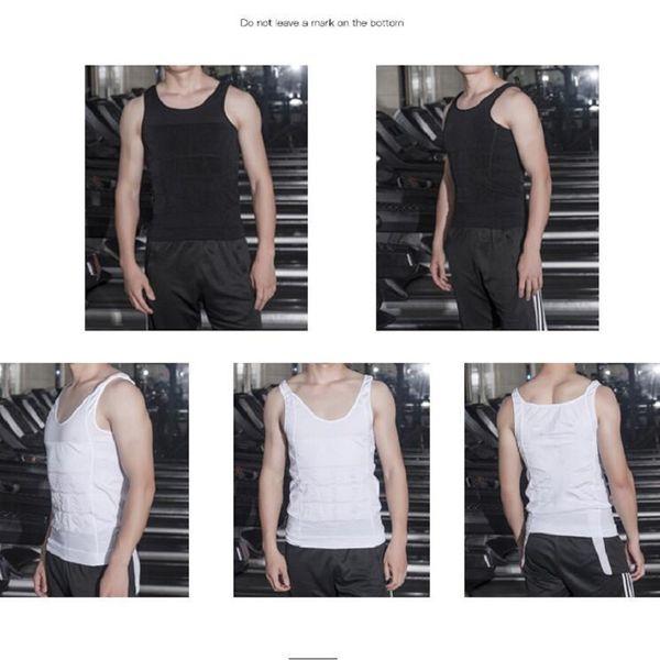 En gros Hommes Slim Moisture Minus Le Ventre De Bière Façonner Sous-Vêtements Abdomen Body Sculpting Gil Shapers Body Sculpting T-shirt