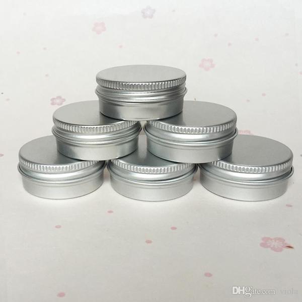 15g en aluminium contenant de cosmétique vide avec couvercles 15 ml rond baume à lèvres étain solide parfum emballage cosmétique jar bouteille échantillon Livraison gratuite