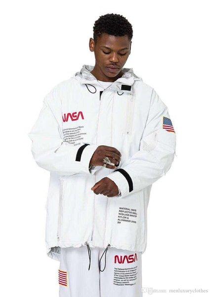 HERON PRESTON NASA PARKA Mens Loose Casual Hooded Windbreaker Jackets Oversize Coats