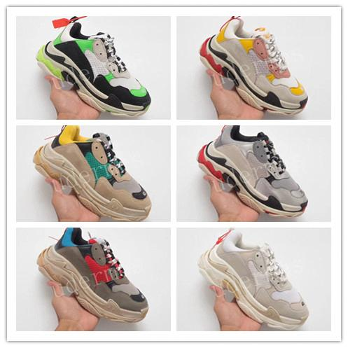 2019 best quality bottom triple Designer Shoes Lime Green COOL GREY Europe Collection sneakers 36-451bd9#