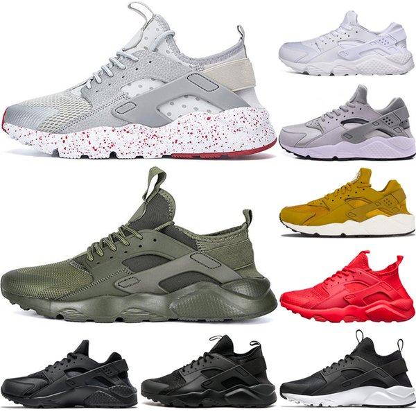 Compre Nike Air Huarache Shoes 2018 Hot Sale Huarache 4.0 1.0 Hombres Mujeres Oro Negro Blanco Huaraches Zapatillas Deportivas Zapatillas Tamaño Eur