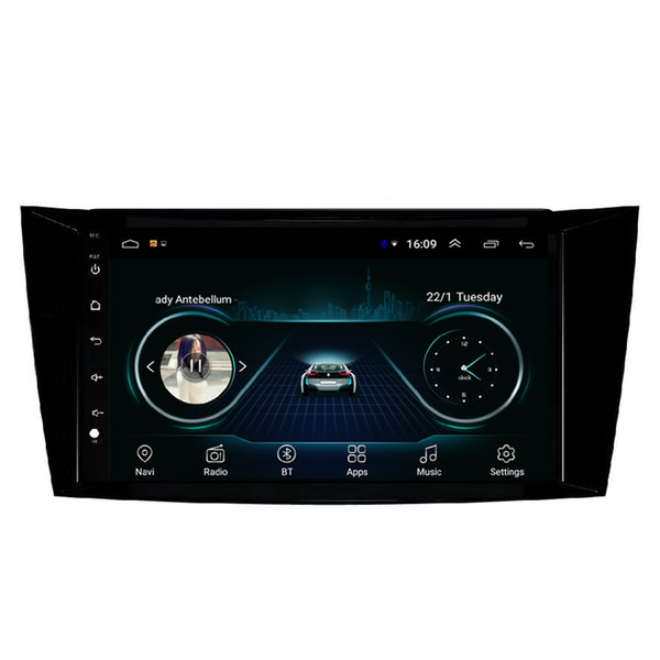 Android car mp3 mp4 player HD 1080 beautiful wallpaper front camera GPS navigatio fast delivery for Mercedes Benz W211 9inch