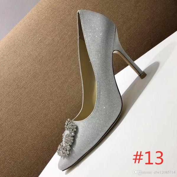 [Kutu ile] Yeni Moda lüks tasarımcı ayakkabı yüksek topuklu Çıplak Deri Sivri Burun Elbise ayakkabı Stilettos Deri Sandalet Pompalar kadınlar 20