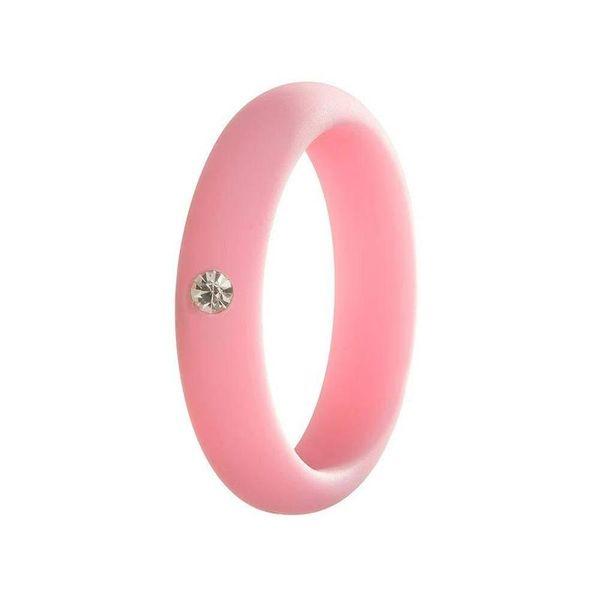 Nuevo Bonito Diamante Belleza Colorido Dedo Aro de Silicona Anillo de Banda de Goma de Silicona Mech Protección Vape Mod Vape Vaporizador RDA Tanques Decorar