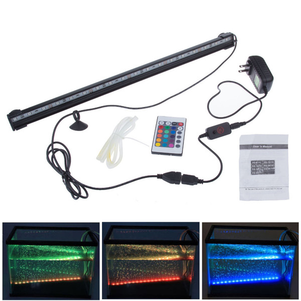 New 46CM RGB 18 LEDs 6W Remote Waterproof Fish Pond Aquarium Lamp Underwater Plant Landscape Lighting Garden Show Lights LED-FL